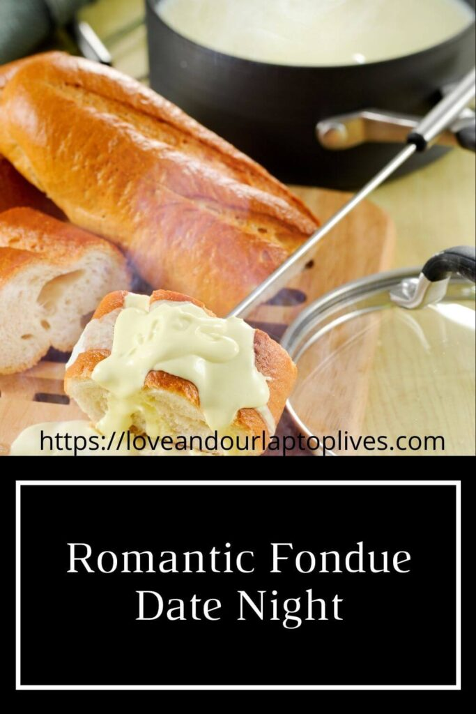 Romantic fondue date night