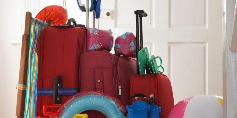 over packed luggage