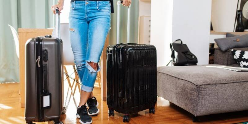 Tips for comfort on cruise ships - packed luggage