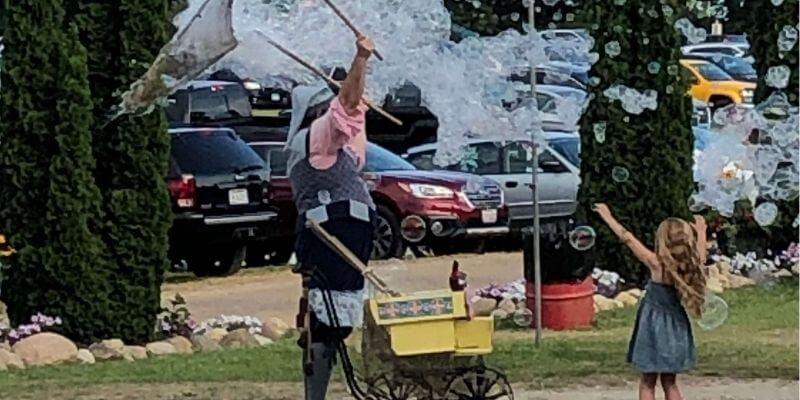 Bubble fun at the Renaissance faire