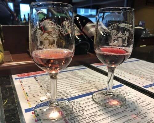 Door County wine samples