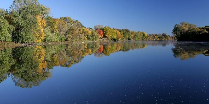 View of the Fox River, Appleton Wisconsin